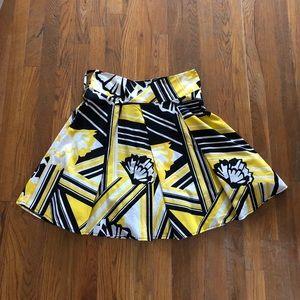 Black   Yellow Flair Skirt